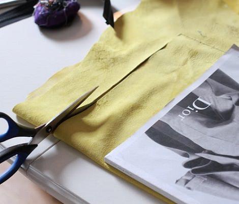 cortar piel bolso