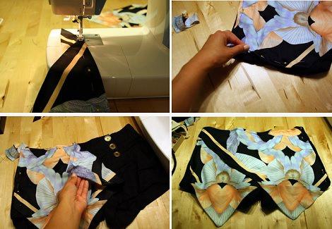 falda pantalón casera diy coser
