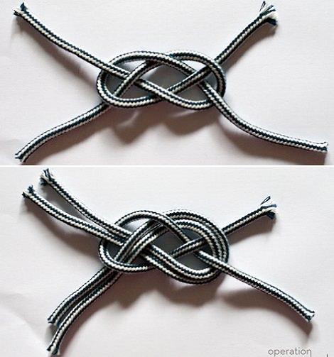 pulsera casera nudos cordones