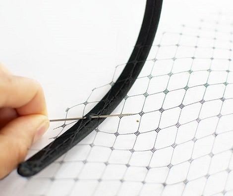 coser tocado redecilla