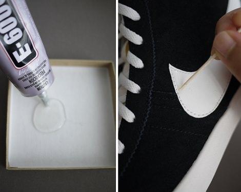 pegar brillantes zapatillas deportivas