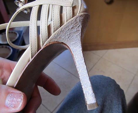 forrar tacón zapatos pintar