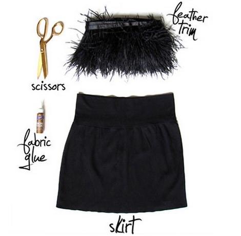 falda de plumas de fiesta