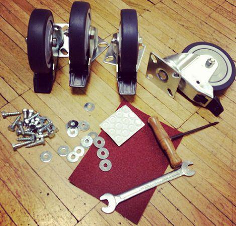 ruedas para la mesa de palets