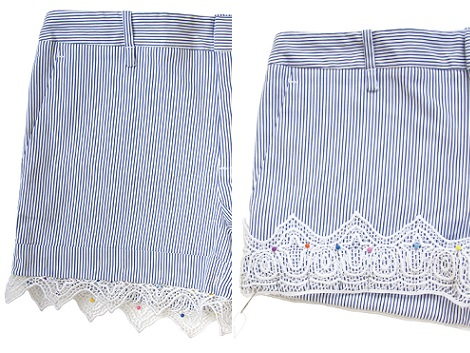 short estilo lencero puntilla