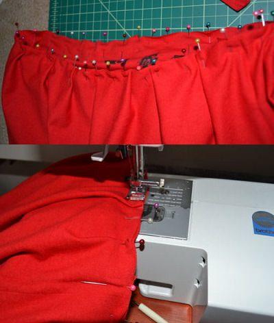 hacer pliegues de la falda