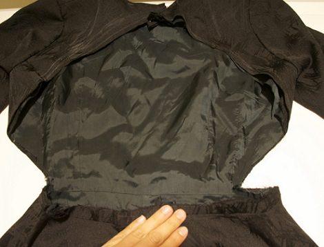 dobladillo escote vestido