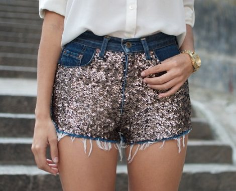 customizar short lentejuelas