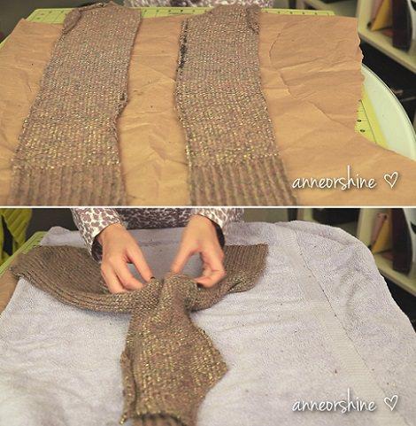 turbante lana casero
