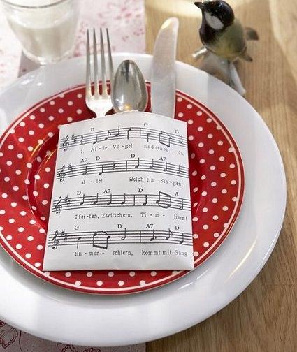 partituras navidad mesa