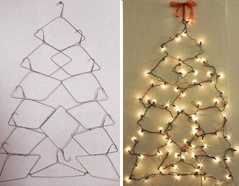 perchas con forma de árbol de Navidad