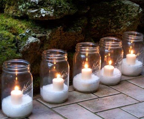 tarros de cristal navidad velas