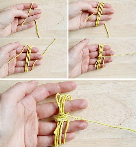 hacer nudo marinero paso 1