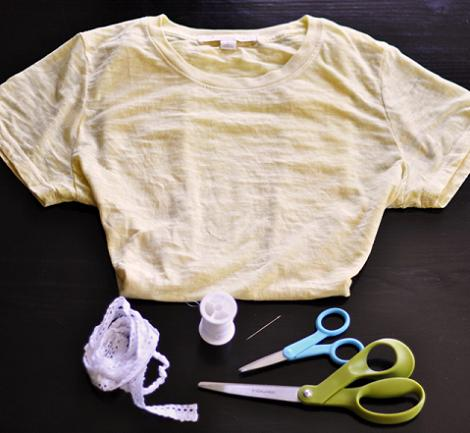 Cortar camiseta