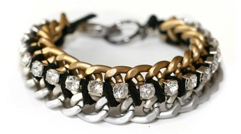 Hacer pulsera de cadenas y strass