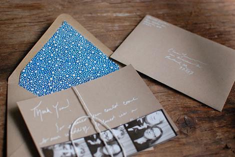 Invitación de boda casera