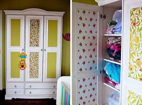 Empapelar armario infantil