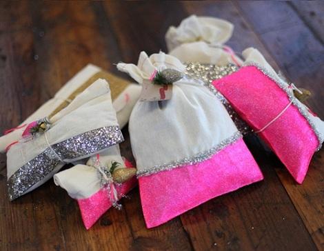 envolver regalos ideas bolsitas purpurina