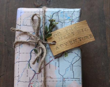 envolver regalos ideas mapa