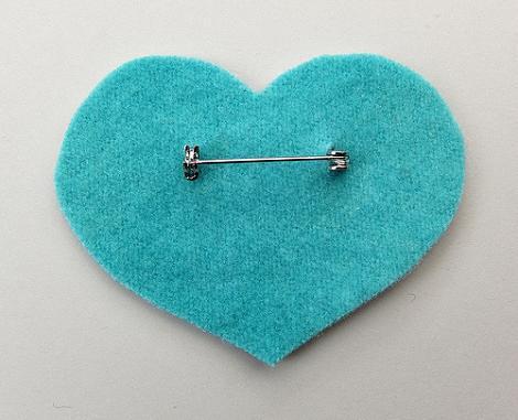 Hacer broche de corazón