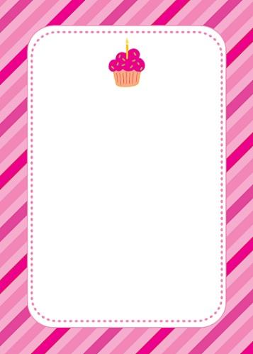 invitaciones cumpleanos imprimir rosa