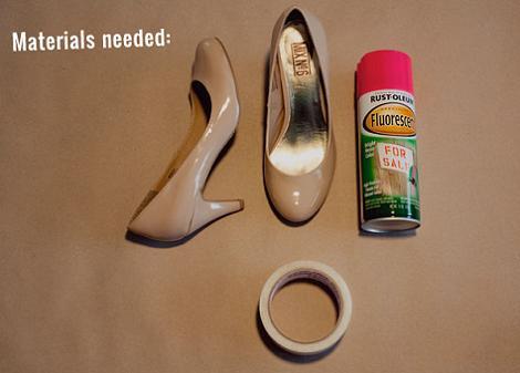 Materiales para pintar zapatos