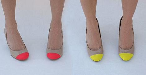 Zapatos flúor