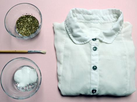 customizar ropa con purpurina