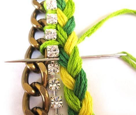 hacer-pulseras-de-hilo-y-strass-4