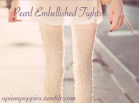 Medias con perlas