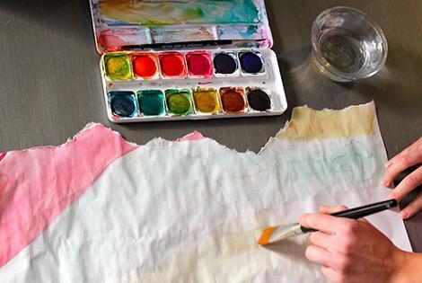 Pintar papel de regalo