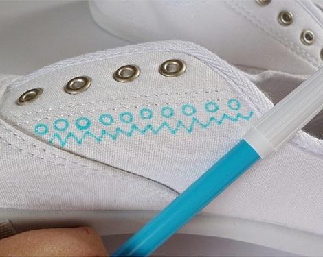 pintar zapatillas dibujo