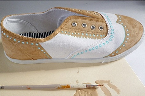 pintar zapatillas pintura