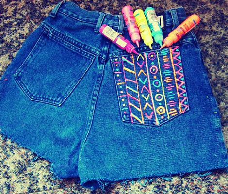 shorts etnicos diy
