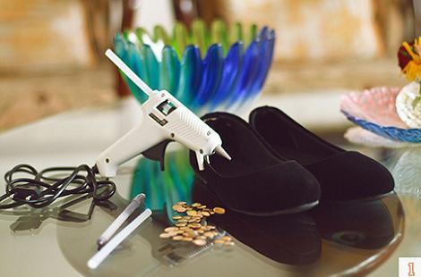 Materiales zapatos tachuelas