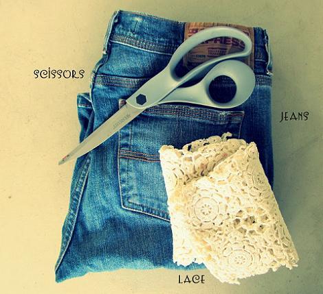 Pantalones de encaje