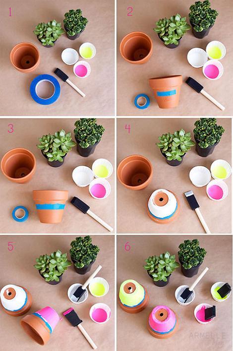Cómo pintar macetas