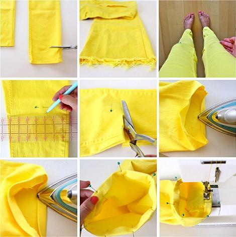 Cortar pantalones