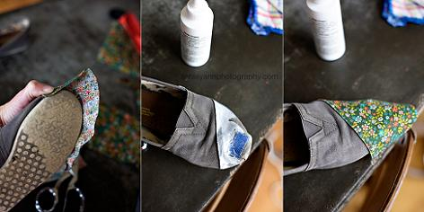 decorar zapatos con telas