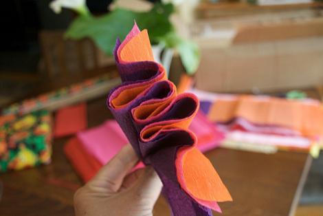 Manualidades con papel pinocho