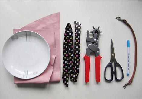 Materiales bolso de cuero