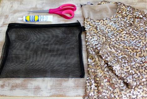 Materiales para hacer bolso de lentejuelas