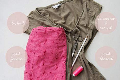 Materiales para decorar camiseta