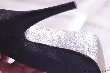 Suela de zapato con purpurina