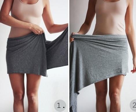 falda cruzada moda casera enrollar