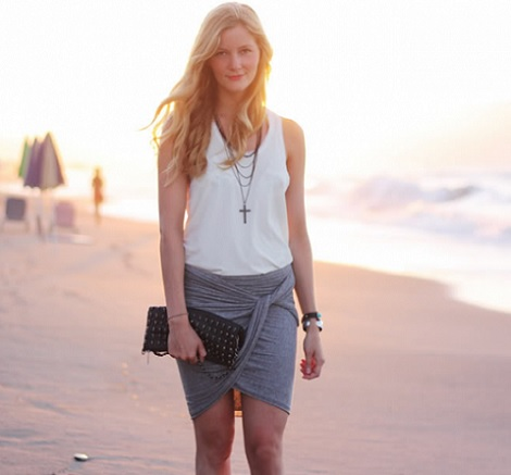 falda cruzada moda casera