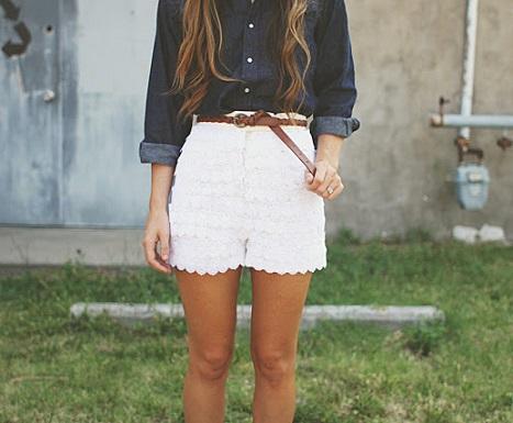 shorts encaje
