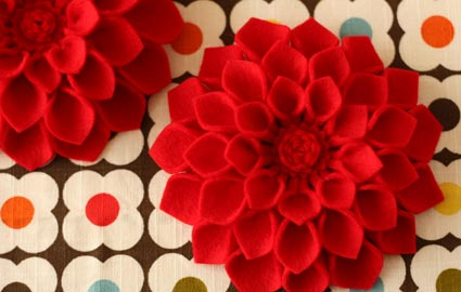 broches flores fieltro