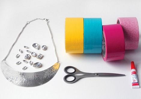 collares reciclados moda material