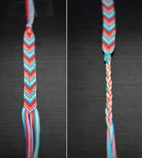 como hacer pulseras hilo colores pulsera